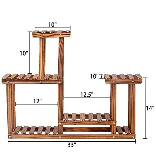 Rose Home Fashion Solid Pine Wood Plant Stand, Plant Stands Indoor, Outdoor Plant Stand, Plant Shelf, Plant Stands, Antirust Screws, Overall Size: 33?¨¢24 Inch