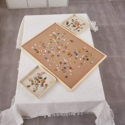 "Standard Size: 29""?¨¢21"", Puzzle Board, Puzzle Table, Puzzle Tables for Adults, Puzzle Table, Puzzle Tray with 4 Storage Bags"