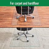 Tempered Glass Chair Mat, 36inch?¨¢46inch, 1/5 Inch Thick Office Chair Mat Carpet & Hardwood Floor, Chair Mats for Carpeted Floor, Chair Mat for Hardwood Floor, Desk Chair Mat, 4 Anti-Slip Pads