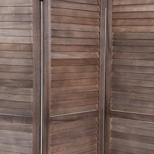 RHF 5.6 Ft Tall Wood Room Divider, Wood Folding Room Divider Screens, Panel Divider&Room Dividers, Privacy Screens,Partition & Wall Divider,Space Seperater