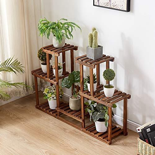 Rose Home Fashion Solid Pine Wood Plant Stand, Plant Stands Indoor, Outdoor Plant Stand, Plant Shelf, Plant Stands, Antirust Screws, Overall Size: 43?¨¢24 Inch