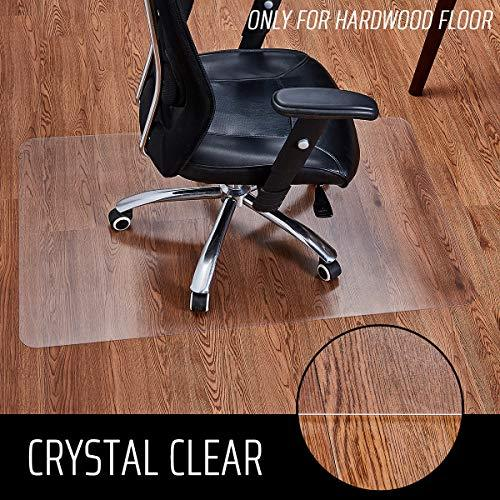 Polycarbonate Office Chair Mat for Hardwood Floor, Floor Mat for Office Chair (Rolling Chairs), Desk Mat & Office Mat for Hardwood Floor, Only for Hardwood Floor