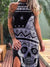 Sleeveless Skull Casual Dresses