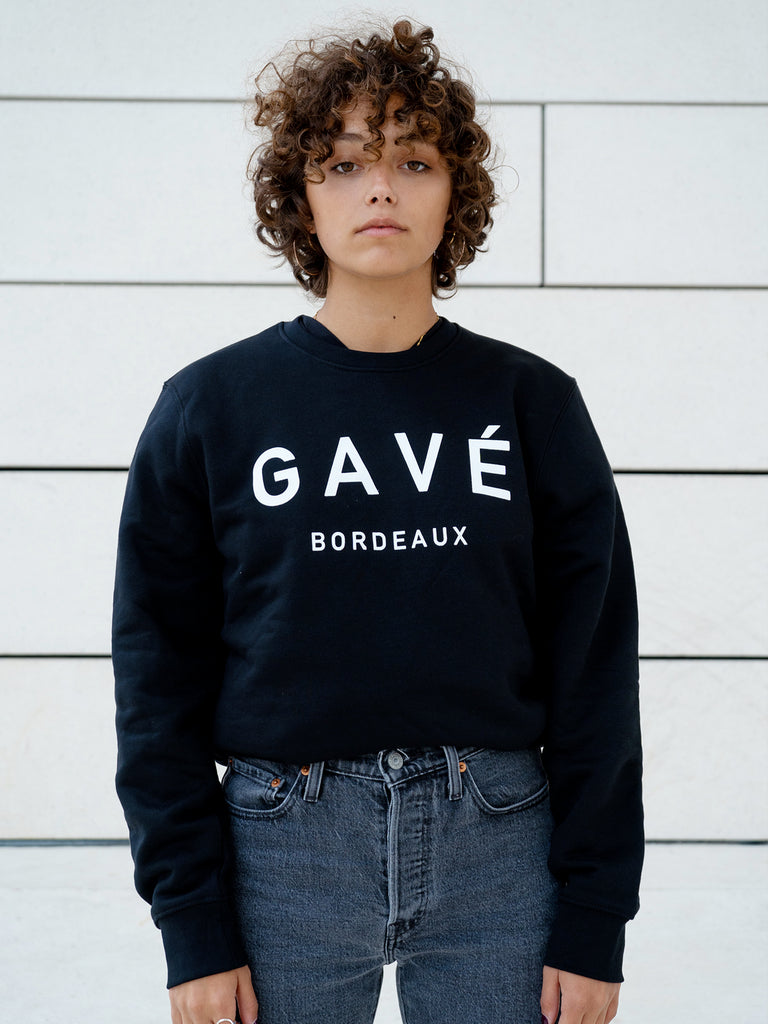 Sweat GAVÉ BORDEAUX Unisex - Noir