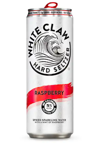 White Claw Hard Seltzer Raspberry 330Ml (3 Pack)