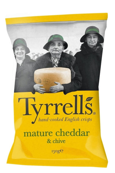 Tyrrells Mature Chedder & Chive Large 150g Bag