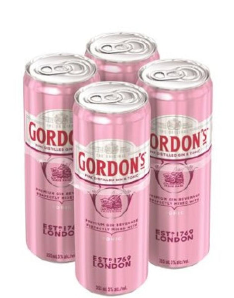 Gordons Pink Gin and Tonic 4 pack 250ml