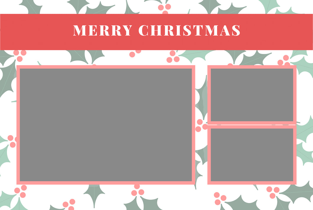 Christmas 009 - Photo Booth Template
