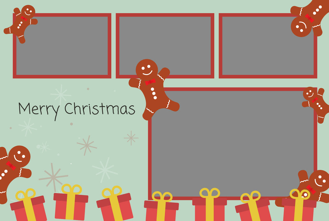 Christmas 012 - Photo Booth Template