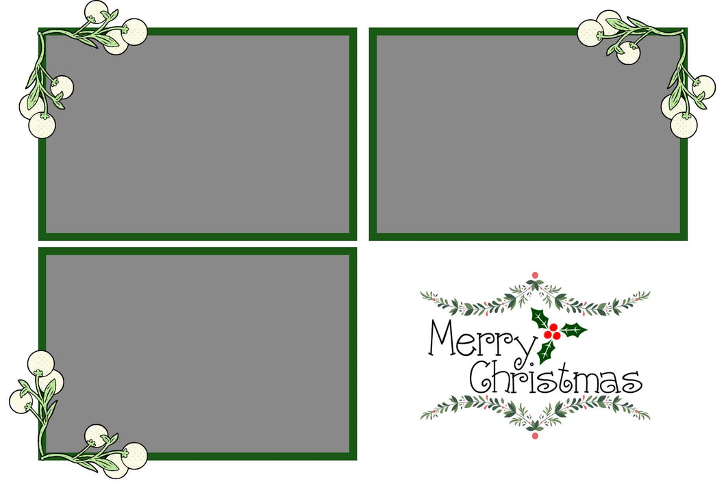 Christmas 019 - Photo Booth Template