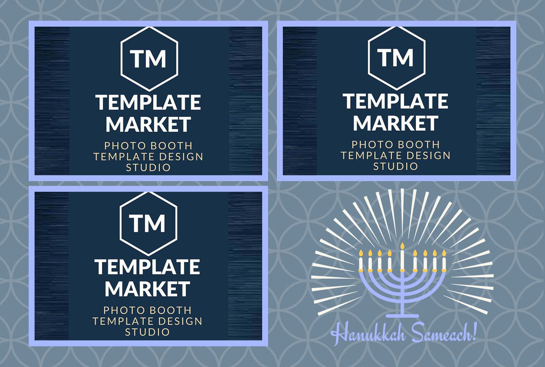 Hanukkah 02.0 - Photo Booth Template
