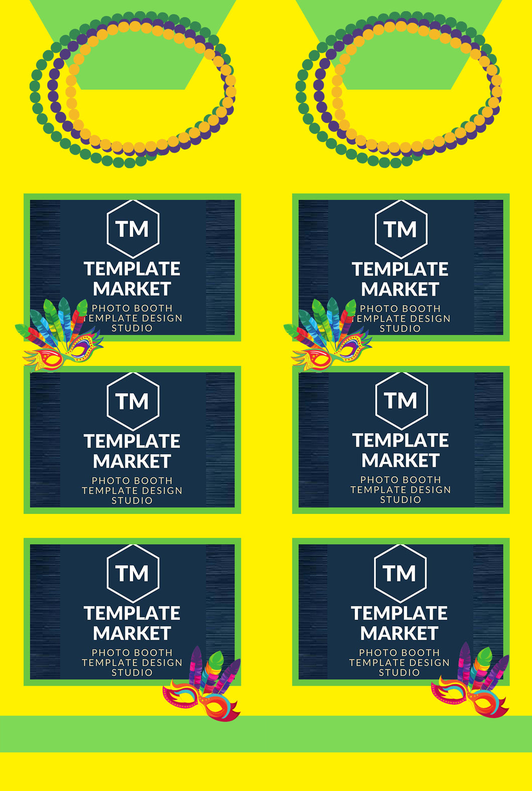 Mardi Gras - Photo Booth Template