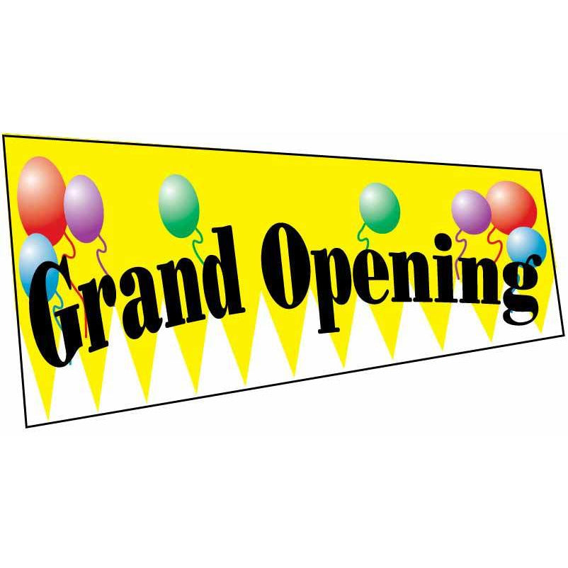 Yellow Grand Opening Advertising Banner