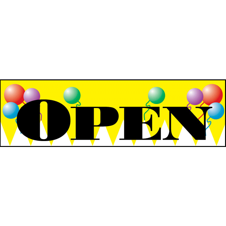 Yellow Open Advertising Banner