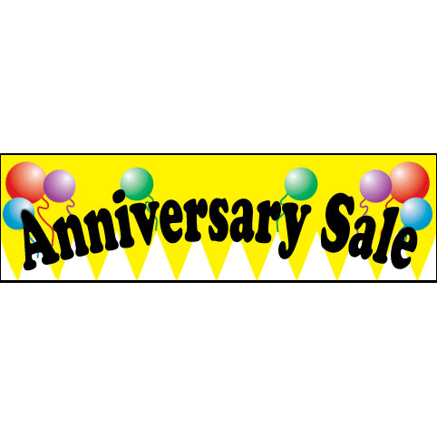 Yellow Anniversary Advertising Banner
