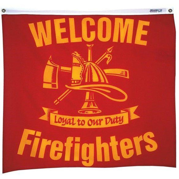 3x3' Welcome Firefighters Advertising Decoration