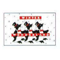 Winter Wonderland Penguin Flag