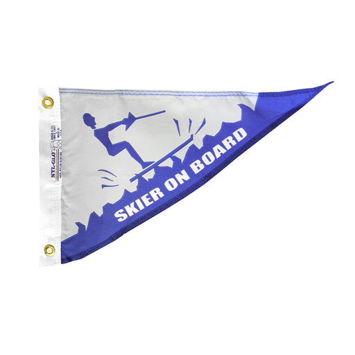 Skier on Board Personal Bow Pennant