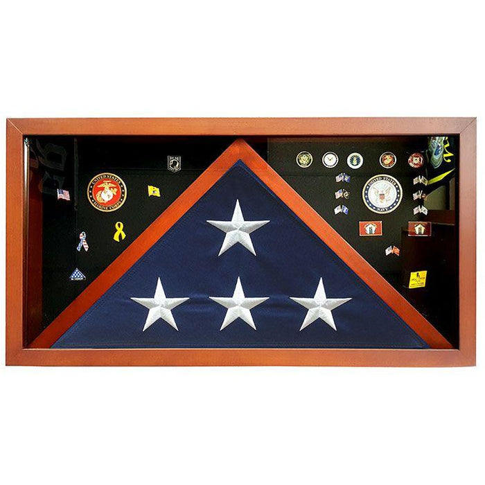 Combination Flag Display Case