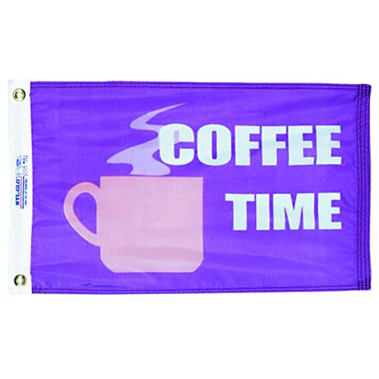 Coffee Time Nautical Fun Flag