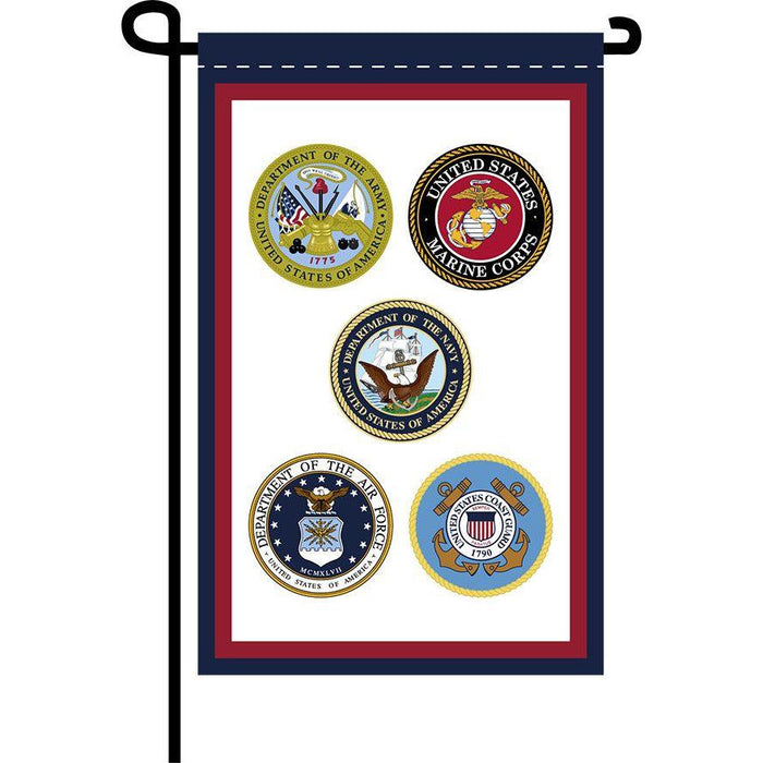 U.S. Armed Forces Garden Banner