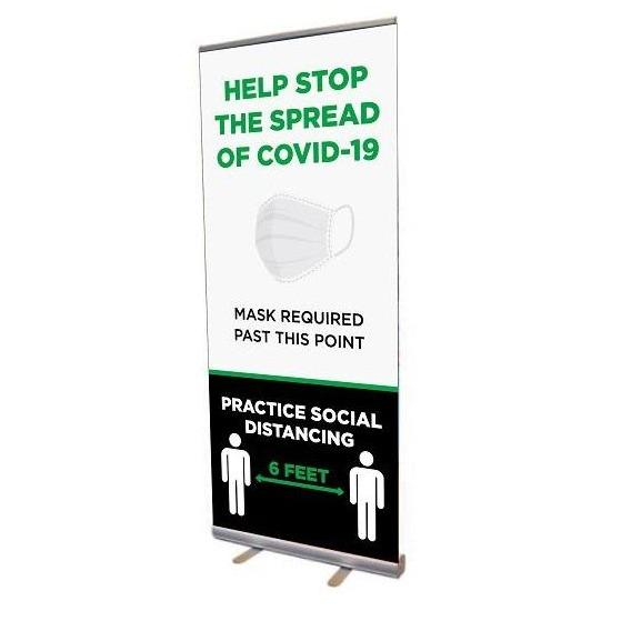 Healthy Habits Retractable Banner Stand