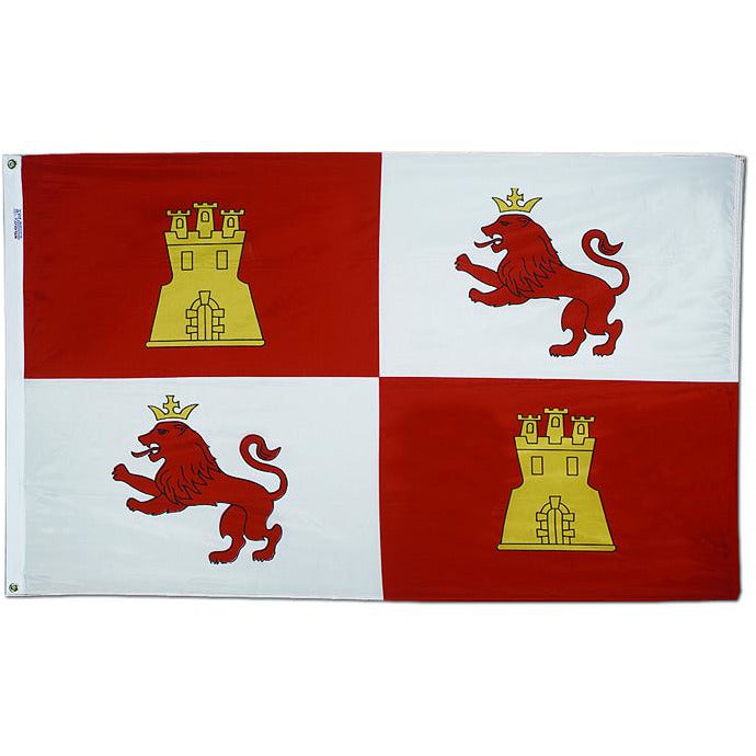 Lions and Castles (Royal Standard of Spain) Flag