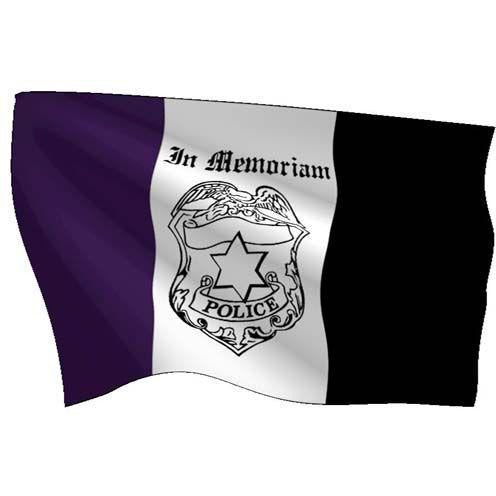 In Memoriam-Police Flag