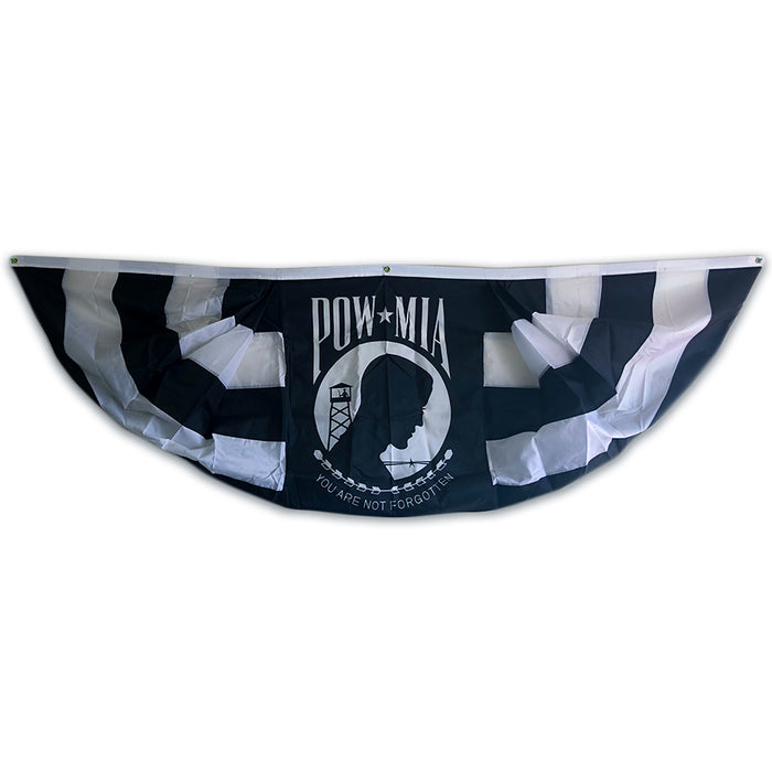 POW-MIA Pleated Full Fan Drape