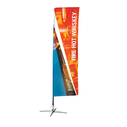 Custom Vertical Flag - Single-Reverse