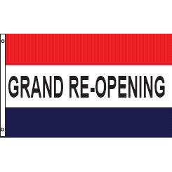 Grand Reopening Message Flag