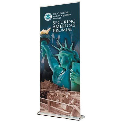Custom Vinyl Banner w- Retractable Stand