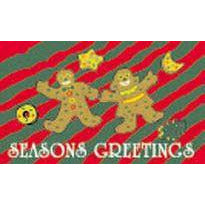 Season's Greeting GingerBread Flag