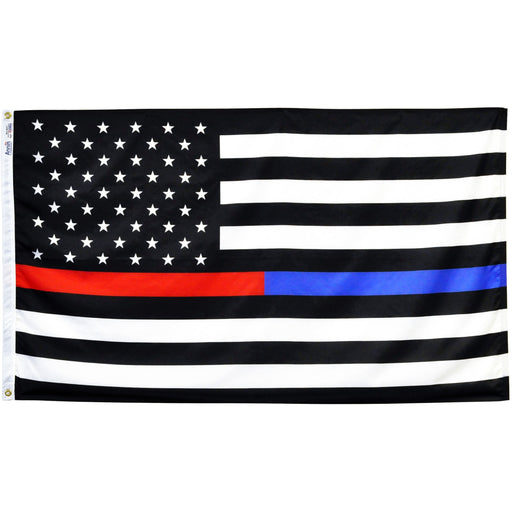 Thin Red-Blue Line U.S. Flag