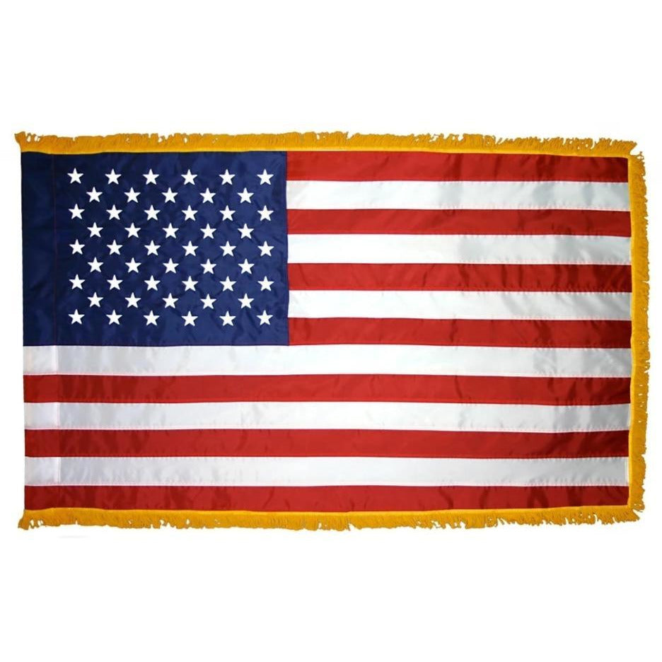 U.S. Indoor Fringed Flag