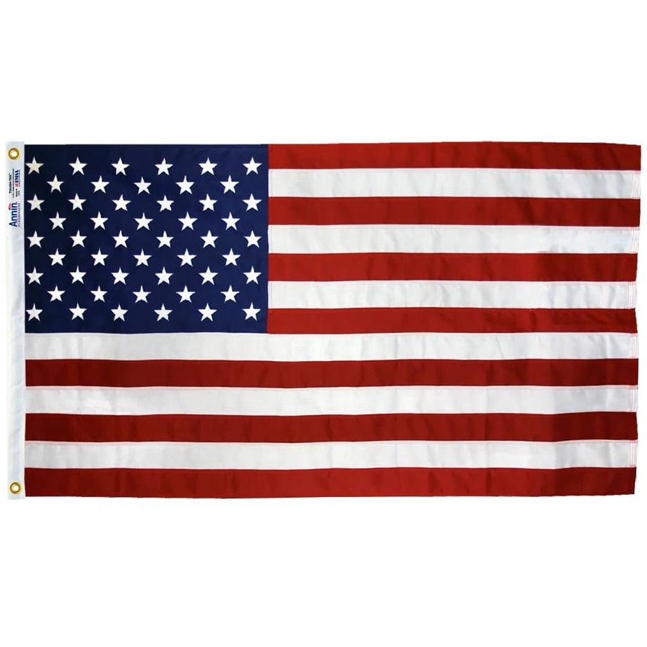 U.S. Outdoor Polyester Flag - 2.5'x4' to 8'x12'