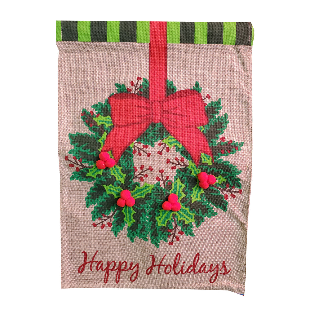 Happy Holidays Garden Banner