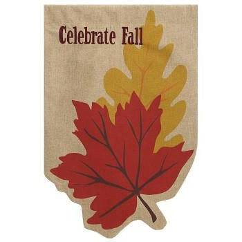 Welcome Fall Leaves Banner
