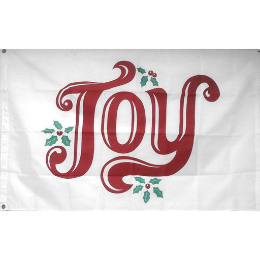 Joy with Holly Nylon Flag