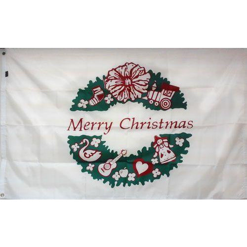 Christmas Wreath Flag