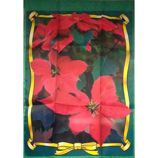 Poinsettia with Yellow Ribbon