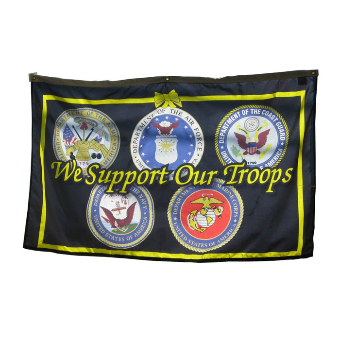 We Support Our Troops-5 Branches Banner