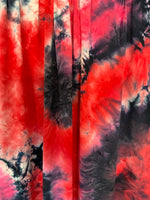 DTY Tie-Dye Fabric: Raspberry/Black