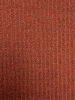 Rib Knit Fabric: Brick Red with Lurex
