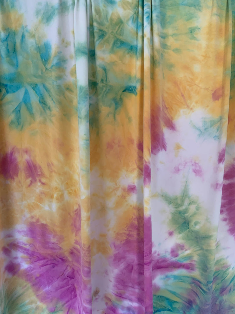 ITY Tie-Dye Fabric: Magenta/Gold/Blue