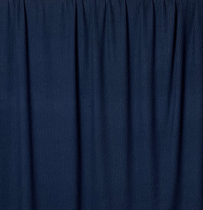 Rib Knit Fabric: Navy