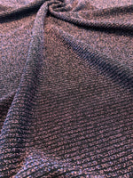 Genova Rib Knit Fabric: Purple/Black