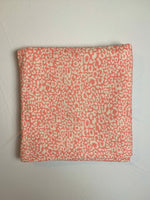 Fabric Piece: Coral/White Leopard Print French Terry, 3 Yards