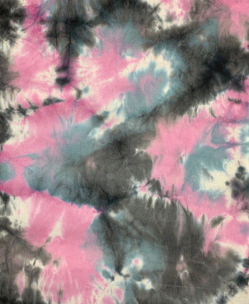 Thermal Knit Tie-Dye Fabric: Galaxy