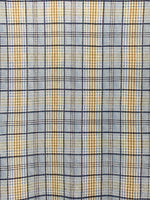 Waffle Knit Fabric: Light Blue/Navy/Taupe Plaid